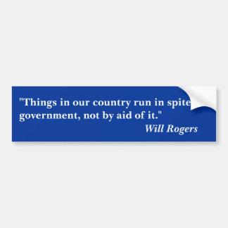 """Rogers cita """"coisas em nosso país funcionado… """" adesivo para carro"""