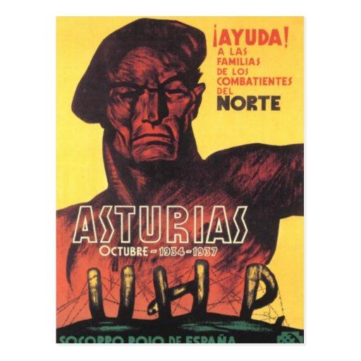 Rojo de Espana 1936 do soccoro da guerra civil da Cartões Postais