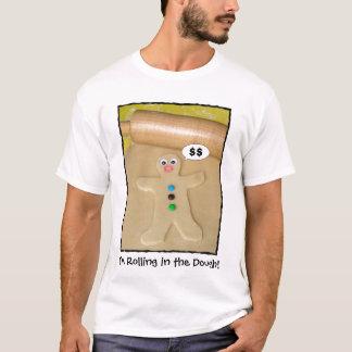 Rolamento na camisa cómico do T dos homens da