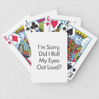 Role meus olhos baralhos de pôquer