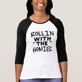 Rollin com o Tshirt das mulheres engraçadas de Camiseta