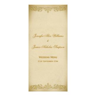 Rolo da folha do vintage do modelo do menu do 10.16 x 22.86cm panfleto