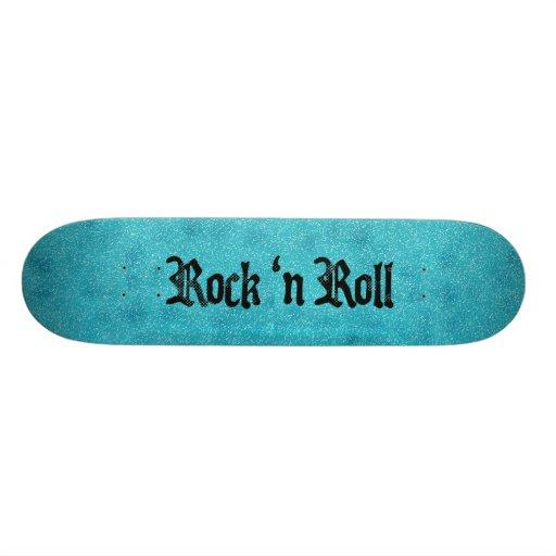 Rolo da rocha azul n de oceano skate
