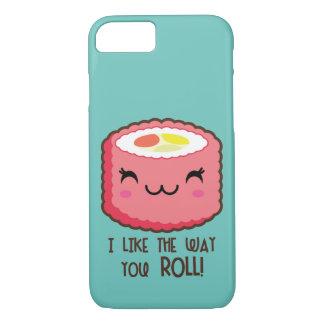 Rolo de Emoji do sushi Capa iPhone 7