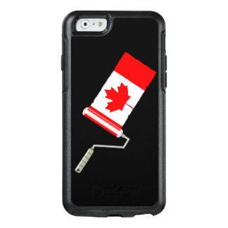 Rolo de pintura canadense da bandeira da folha de