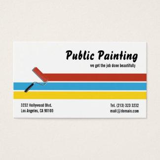Rolo de pintura do pintor cartão de visitas