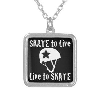 Rolo Derby, skate a viver vivo para patinar, Colar Banhado A Prata