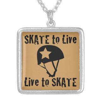 Rolo Derby, skate a viver vivo para patinar, Colar Com Pendente Quadrado