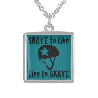 Rolo Derby, skate a viver vivo para patinar, Colar De Prata Esterlina