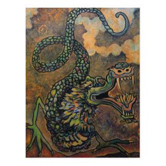Rolo do dragão, cartão japonês da arte