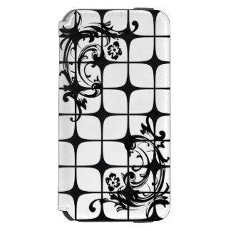 Rolo floral & carteira preta & branca de Deco do