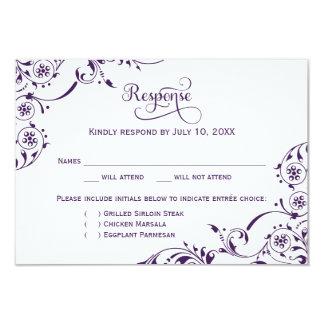 Rolo roxo escuro do cartão | da resposta do convite 8.89 x 12.7cm
