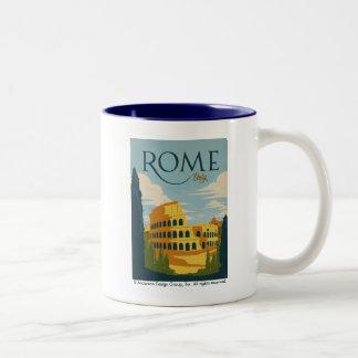 Roma, Italia Colosseum Caneca De Café Em Dois Tons