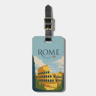 Roma, Italia Colosseum Etiqueta De Bagagem