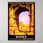 """Roma, trem de """"Roma luxe do le da paridade Pôster"""