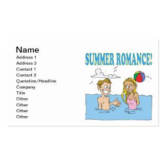 Romance 2 do verão cartão de visita