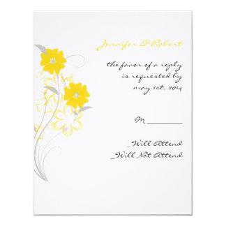 Romance de brotamento no cartão amarelo da