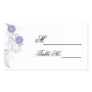 Romance de brotamento no cartão do lugar do cartão de visita
