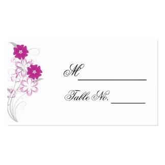 Romance de brotamento no cartão fúcsia do lugar do cartão de visita