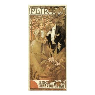Romance do amor de Nouveau da arte do vintage, 10.16 X 22.86cm Panfleto