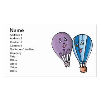Romance do balão cartão de visita