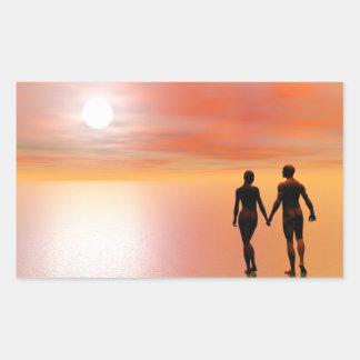 Romance do casal - 3D rendem Adesivo Retangular