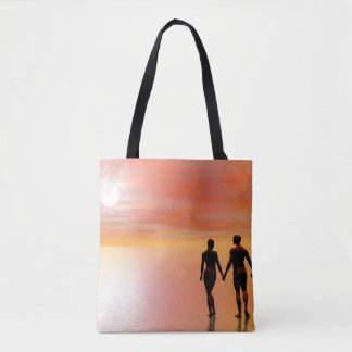Romance do casal - 3D rendem Bolsas Tote