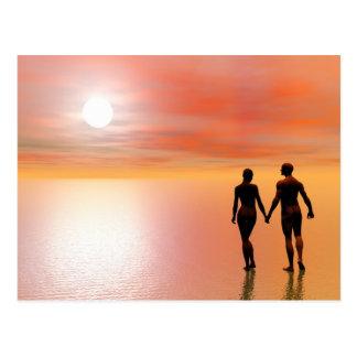Romance do casal - 3D rendem Cartão Postal