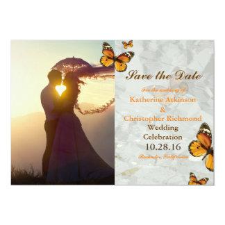 romance do por do sol do casal 047-Wedding/tema da Convite 12.7 X 17.78cm
