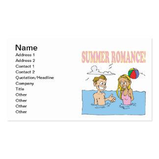 Romance do verão cartões de visitas