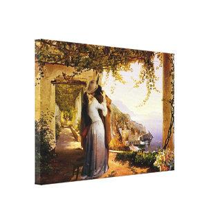 Romance do vintage no impressão das canvas de