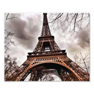 Romance e mistério no impressão da torre Eiffel Impressão De Foto