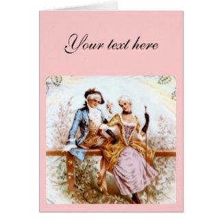 romance francês do século XVIII Cartão Comemorativo