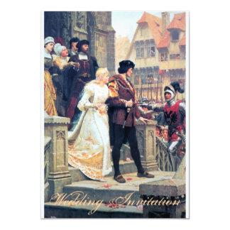 Romance medieval do casamento convite 12.7 x 17.78cm