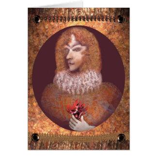 Romance por Anjo Lafin Cartão Comemorativo