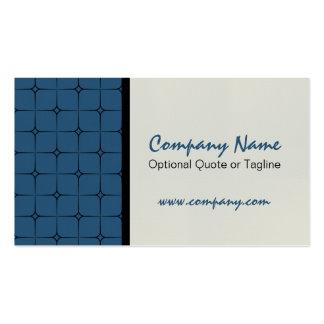 Romance retro cartão de visita modelado azul mari