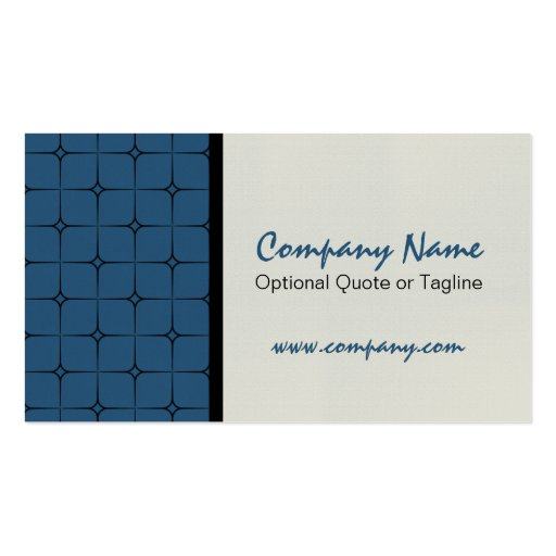 Romance retro cartão de visita modelado, azul mari