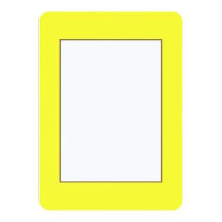 Romance tropical amarelo de néon ácido do limão de convite 11.30 x 15.87cm