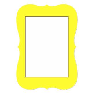 Romance tropical amarelo de néon ácido do limão de convite 12.7 x 17.78cm