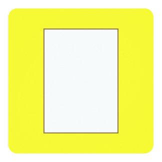 Romance tropical amarelo de néon ácido do limão de convite quadrado 13.35 x 13.35cm
