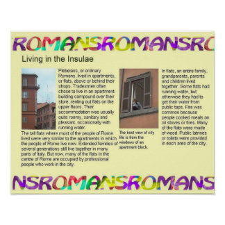 Romanos da história, vivendo nos Insulae Pôster