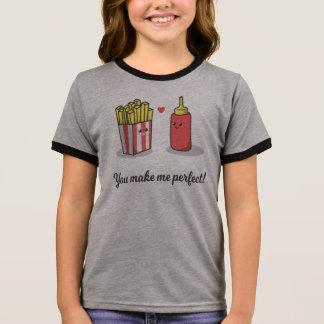 Romântico engraçado você faz-me a camisa perfeita