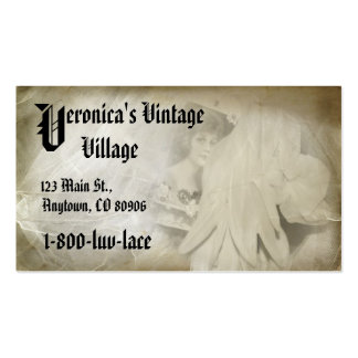 Romântico Vintage Laço Empresa Cartão De Visita