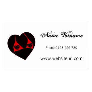 romantik cartão de visita
