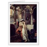 Romeo e Juliet por Francesco Hayez Cartão Comemorativo