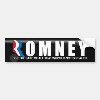 Romney - anti Barack Obama Adesivo Para Carro