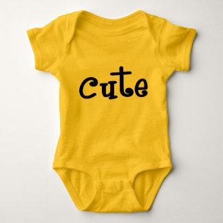Romper bonito amarelo do bebê body para bebê
