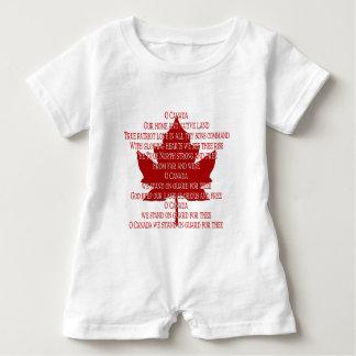 Romper de Canadá do bebê do Romper da lembrança do Camisetas
