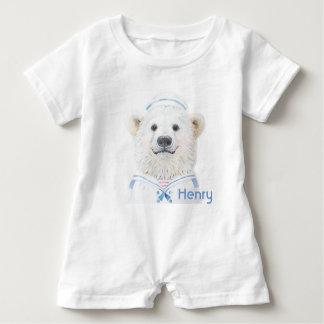 Romper do bebê - marinheiro do urso do bebê tshirt