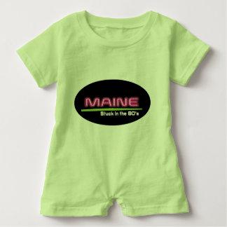 Romper MAINE do bebê COLADO no anos 80 Camiseta